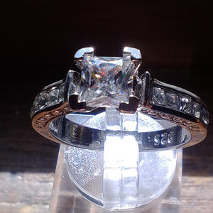 Jewelry - 925 sterling silver cubic zirconia engagement ring